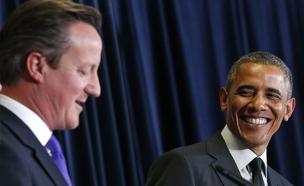 """""""נכבד את החלטת הבריטים"""". אובמה וקמרון (צילום: רויטרס)"""