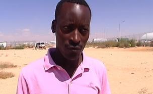 מוטסים עלי קיבל מעמד פליט בישראל (צילום: חדשות 2)