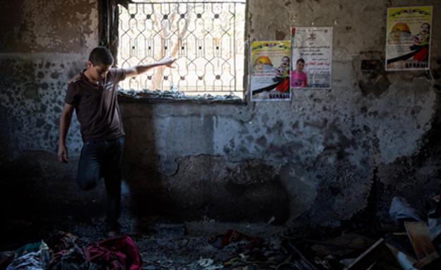 זירת הרצח בדומא (צילום: מרים אלסטר / פלאש 90)