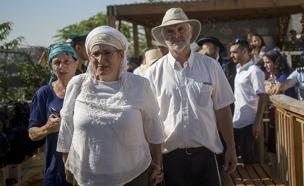 """משפחתה של הלל אריאל ז""""ל בהר הבית (צילום: יונתן סינדל, פלאש 90)"""