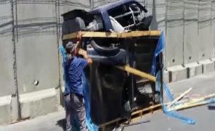 סוכלה הברחת טנדר לעזה (צילום: רשות המעברים במשרד הביטחון)
