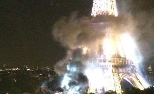 מה קרה במגדל אייפל (צילום: מתוך הסרטון)