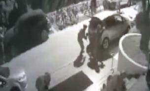 חילופי הירי מחוץ למלון של ארדואן. צפו