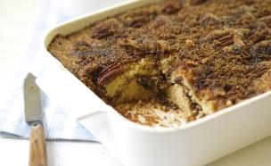 עוגת פקאן, קינמון וסוכר חום  (צילום: קרן אגם ,אוכל טוב)