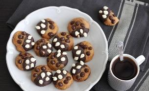 עוגיות חמאת בוטנים ושוקולד (צילום: ענבל לביא ,אוכל טוב)