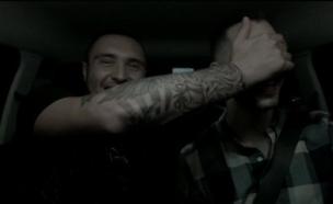 נדב גדג' תופס טרמפ עם נדב בורנשטיין (צילום: מתוך חי בלילה ,שידורי קשת)