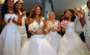 """הכלות ביום החתונה (צילום: יח""""צ)"""