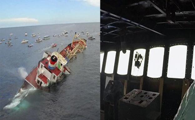 ספינה שהטביעו בפלורידה (צילום: חדשות 2)