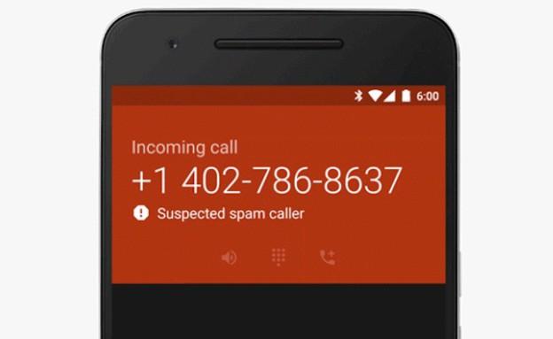 זיהוי שיחת ספאם באפליקציית הטלפון של גוגל