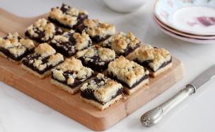 חיתוכיות שוקולד ופירורים (צילום: נטלי לוין ,אוכל טוב)