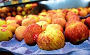 תפוחים בסופר (צילום: חדשות 2)