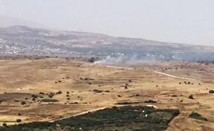 השובע: פצצת מגרמה נפלה בגולן (צילום: חדשות 2)