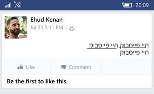טקסט מעוצב בפייסבוק
