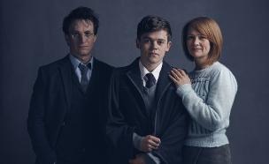 """אלבוס, הארי וג'יני ב""""הארי פוטר והילד המקולל"""" (צילום: יחסי ציבור ,יחסי ציבור)"""