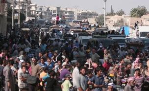 שחרור העיר מנג'יב בסוריה (צילום: חדשות 2)