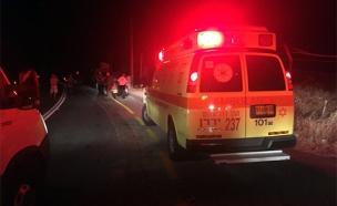 זירת התאונה, אתמול (צילום: חדשות 2)