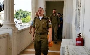 אזריה בבית המשפט (ארכיון) (צילום: עזרי עמרם, חדשות 2)