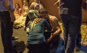 זירת הפיגוע בחתונה בטורקיה (צילום: SKY NEWS)