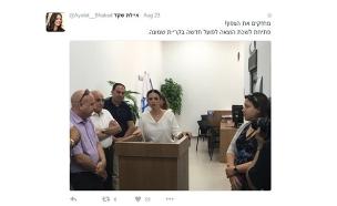 הציוץ השנוי במחלוקת של השרה שקד, אתמול (צילום: טוויטר)