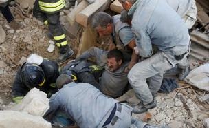 רעידת אדמה באיטליה (צילום: sky news)