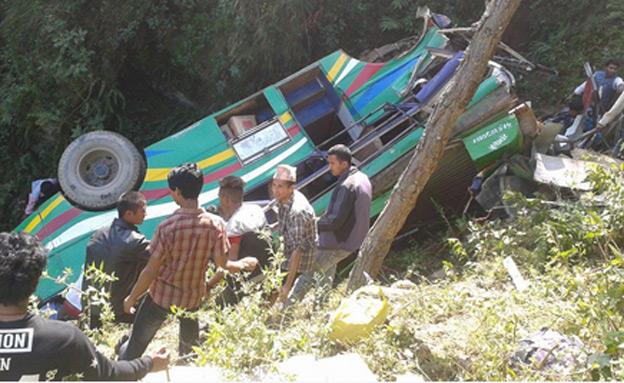אוטובוס התהפך: נפאל: 21 נהרגו בהתהפכות אוטובוס