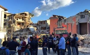 חילוץ לכודים ברעידת האדמה באיטליה (צילום: אייל בן יעיש)
