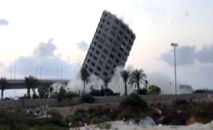 צפו: פיצוץ בניין קומות בעכו (צילום: מישל הלד, מכללת נתניה)