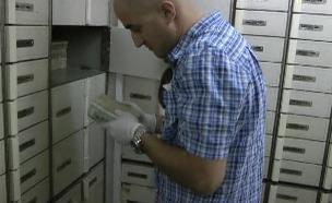 הכספת של פואד (צילום: היחידה לחקירות הונאה)