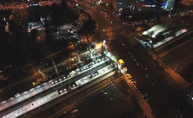 העבודות ברכבת בשבת (צילום: רכבת ישראל)