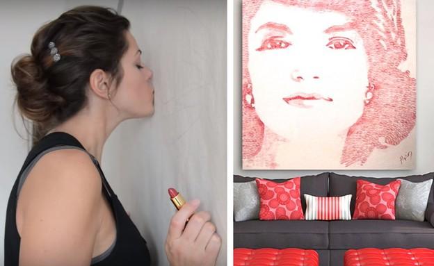 אמנית נשיקות (צילום: יוטיוב  ,מעריב לנוער)