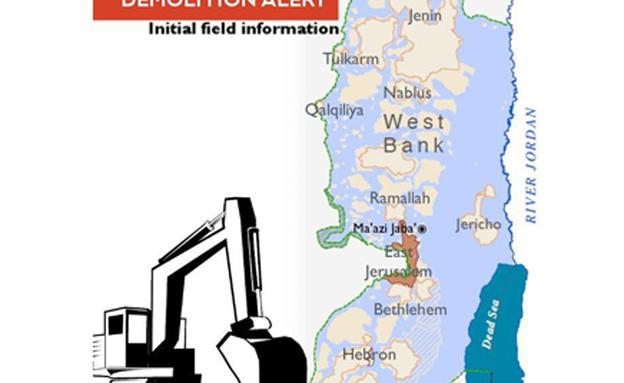 מפת הריסות מהאום (צילום: חדשות 2)