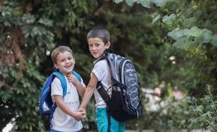 חוזרים ללמוד: שלום כיתה א' ל-160 אלף ילד (צילום: פלאש 90, יונתן סינדל)