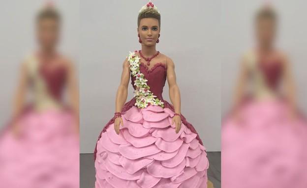 עוגה של קן לבוש שמלה (צילום: פייסבוק ,מעריב לנוער)