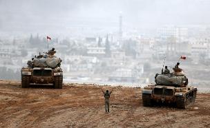 הלחימה בגבול טורקיה-סוריה, ארכיון (צילום: רויטרס)