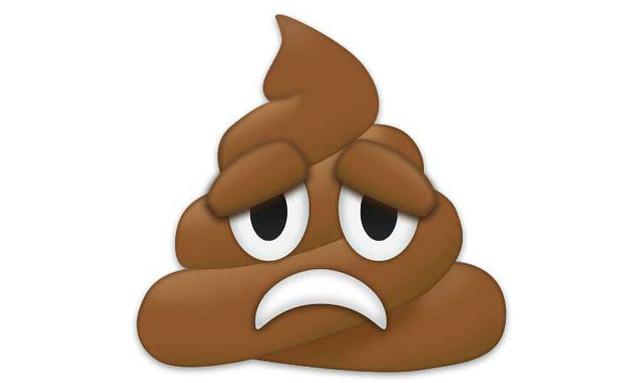 אימוג'י קקי עצוב (עיצוב: EmojiXpress)