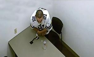 תיעוד: כך נמלט האסיר מחדר החקירות (צילום: משטרת לאס וגאס)