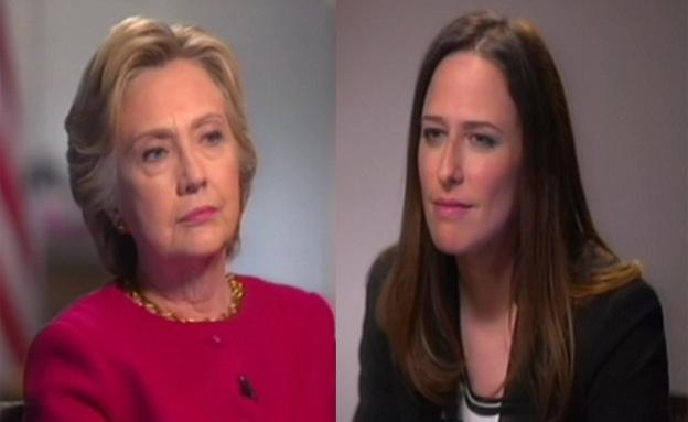 יונית והילרי קלינטון בריאיון (צילום: חדשות 2)