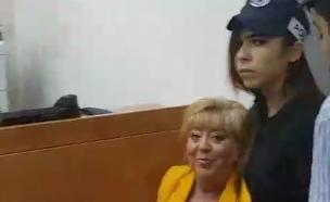 פיירברג בבית המשפט, השבוע (צילום: חדשות 2)
