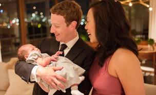 מארק צוקרברג עם אשתו פריסילה והבת מקס (צילום: מתוך פרופיל הפייסבוק של מארק צוקרברג)