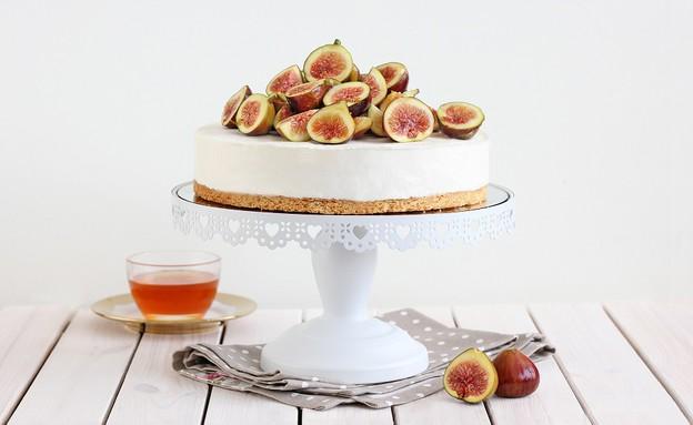 עוגת קרם מסקרפונה, וניל ודבש (צילום: ענבל לביא)