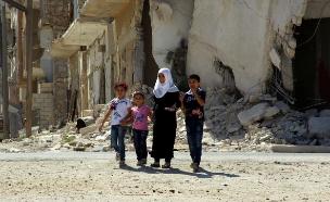 הסיוע נותר מחוץ לערים (צילום: רויטרס)