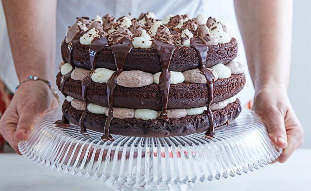 עוגת מוס שוקולד וקרם וניל (צילום: אמיר מנחם ,אוכל טוב)