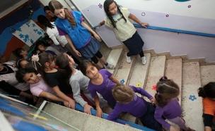 רק תרגיל - גם במוסדות החינוך (ארכיון) (צילום: יוסי זמיר, פלאש 90)