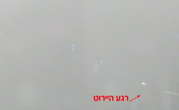 """הזיהוי, השיגור והפיצוץ באוויר - כך זה נראה (צילום: דובר צה""""ל)"""