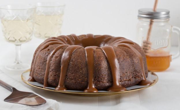 עוגת דבש ואגסים רכה (צילום: דרור עינב ,אוכל טוב)