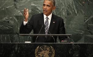 """אובמה בנאומו באו""""ם (צילום: רויטרס)"""