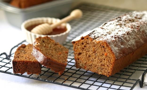 עוגת גזר ודבש (צילום: קרן אגם ,אוכל טוב)