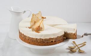 עוגת שכבות וניל לוטוס ותפוחים (צילום: דרור עינב ,אוכל טוב)