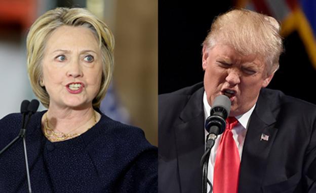 דונלד טראמפ והילרי קלינטון (צילום: רויטרס)