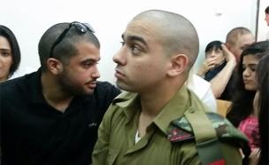 אזריה בבית המשפט (צילום: עזרי עמרם, חדשות 2)